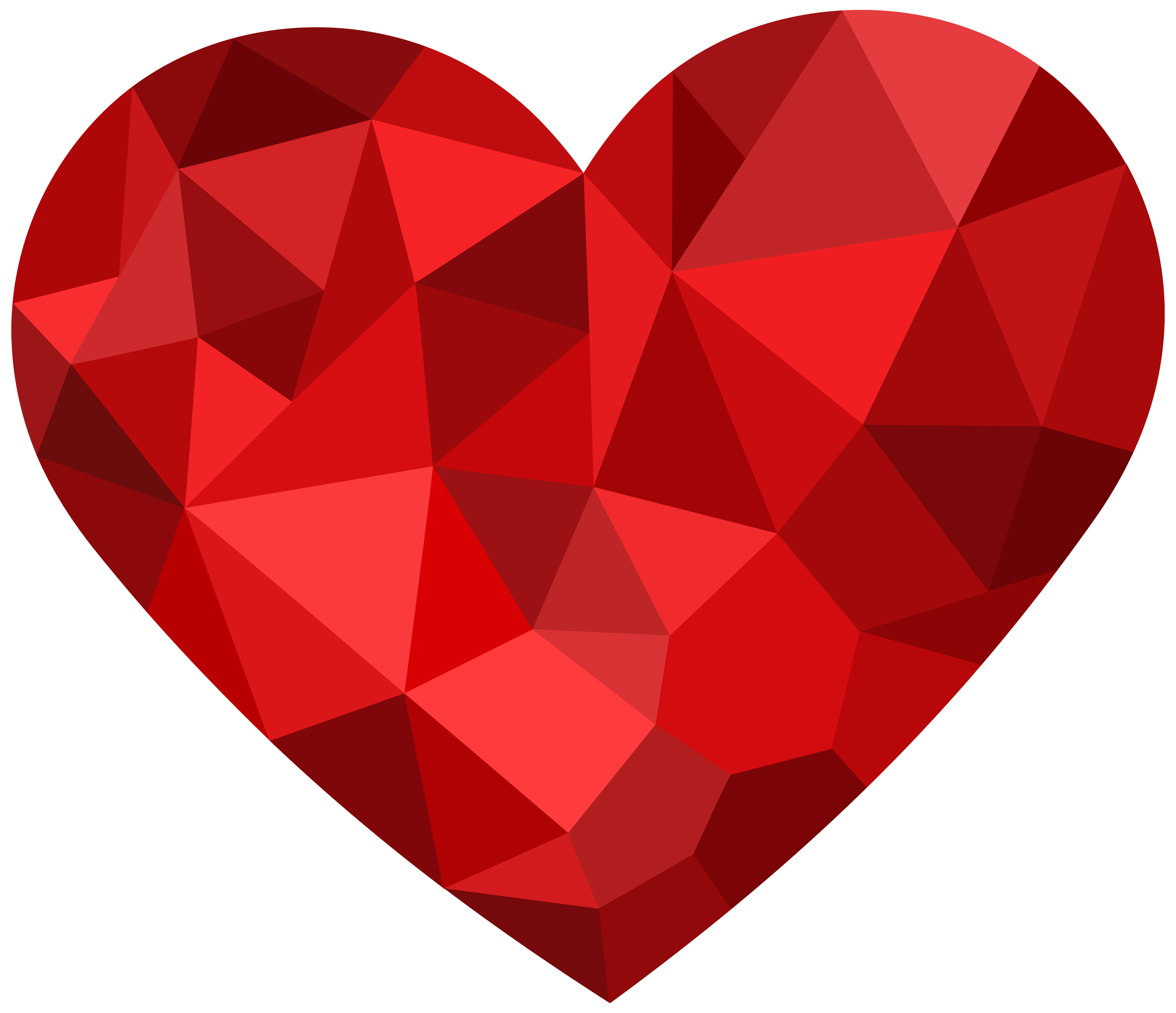 5000x4307 Red Mosaic Heart Png Clipart
