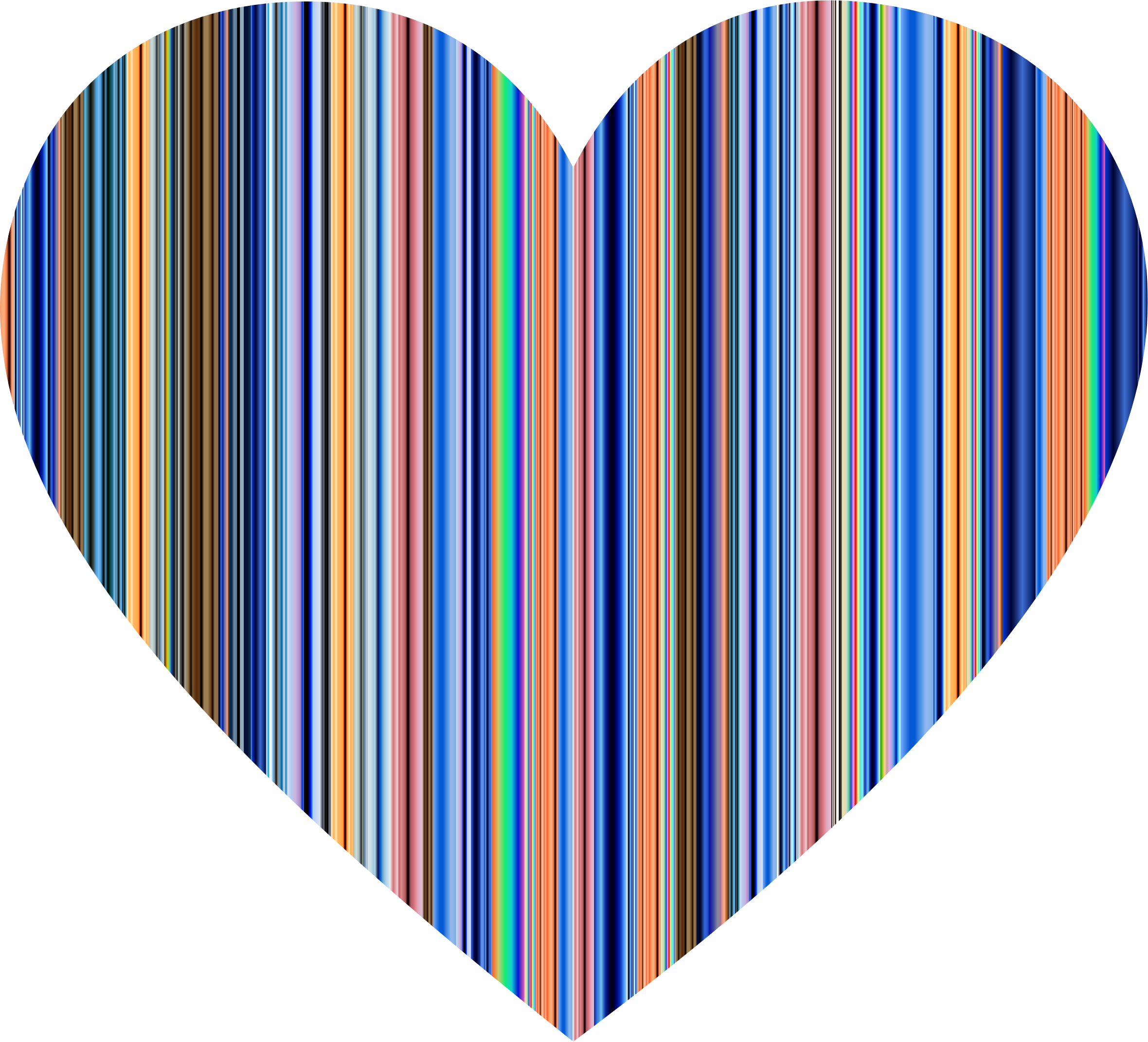 2360x2142 Teal Clipart Colorful Heart