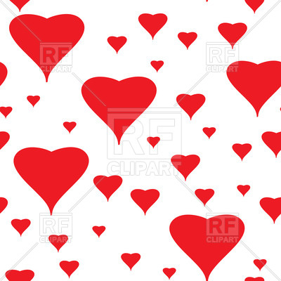 400x400 Valentine's Day Seamless Background With Red Hearts Royalty Free