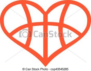 300x234 Basketball Heart Clipart Heart With Basketball Pattern Vector