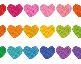 340x270 Crochet Heart Clip Etsy