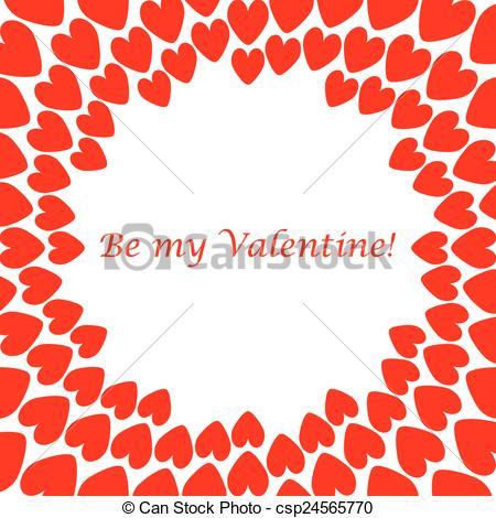 450x470 Design Red Heart Spiral Movement Background. Valentines Day