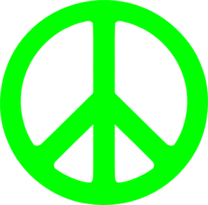298x294 Neon Green Peace Sign Clip Art