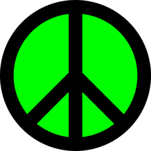 300x300 Neon Green Amp Black Peace Sign Clip Art