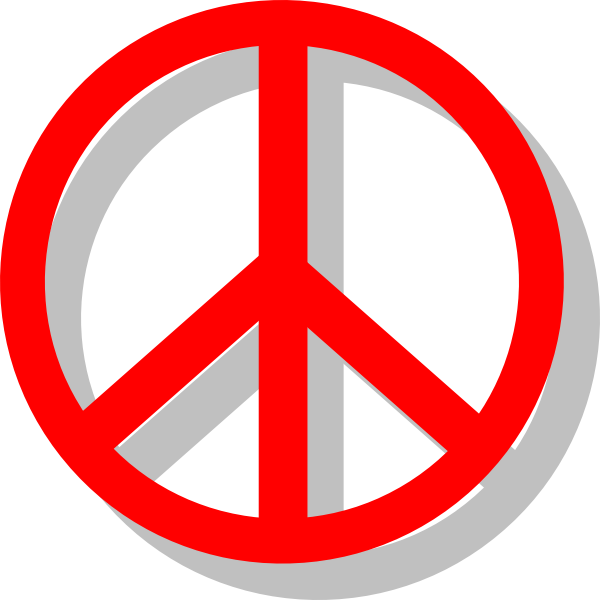 600x600 Peace Sign Clip Art Free Vector 4vector