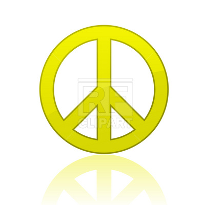 400x400 Peace Sign Royalty Free Vector Clip Art Image