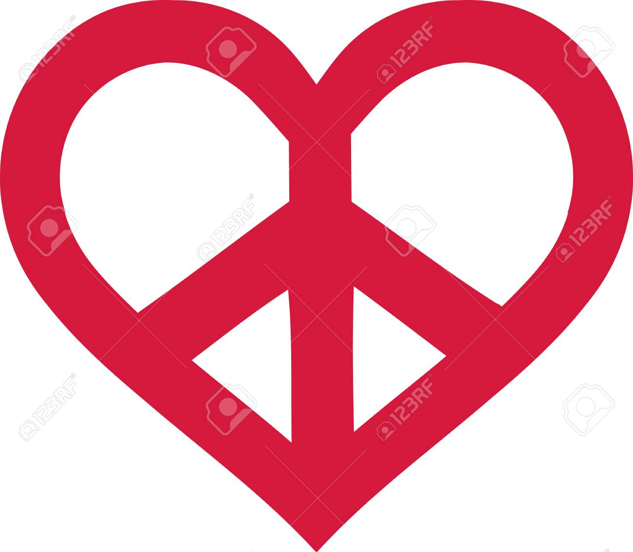 1300x1133 53109583 Read Peace Sign Heart Shaped Clipart