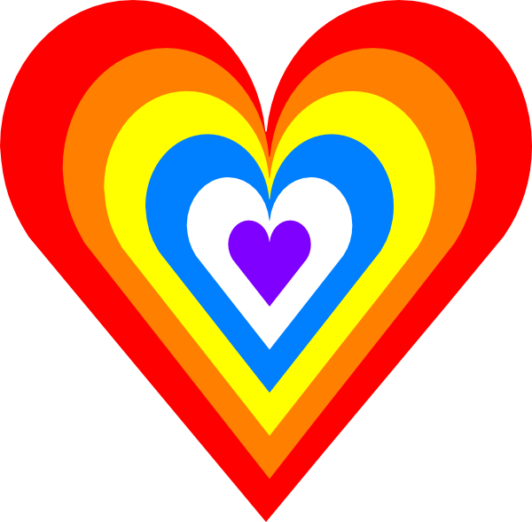 600x589 Rainbow Heart Clip Art