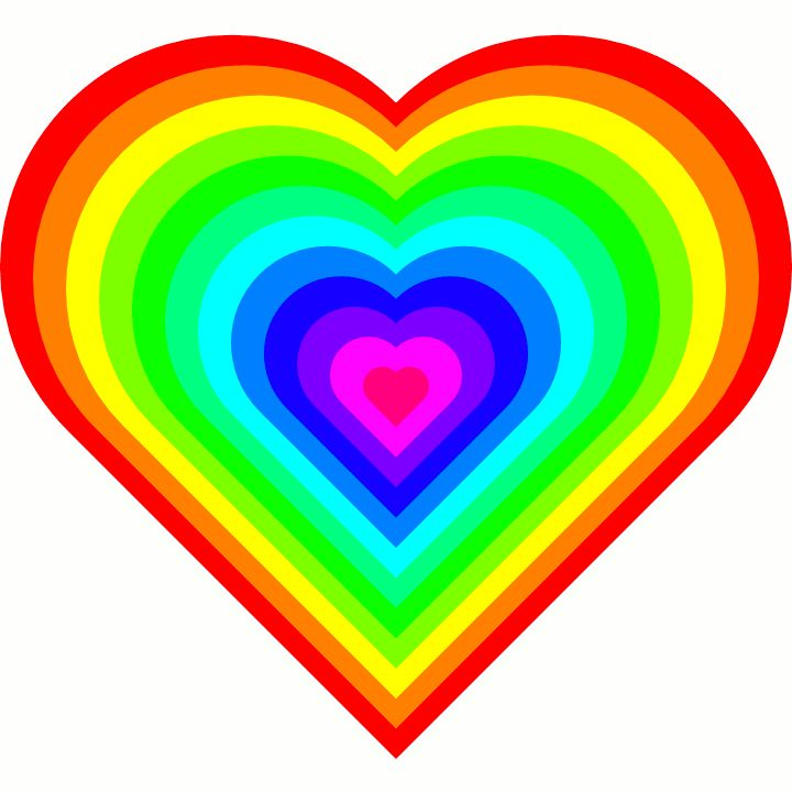 720x720 Colorful Clipart Heart