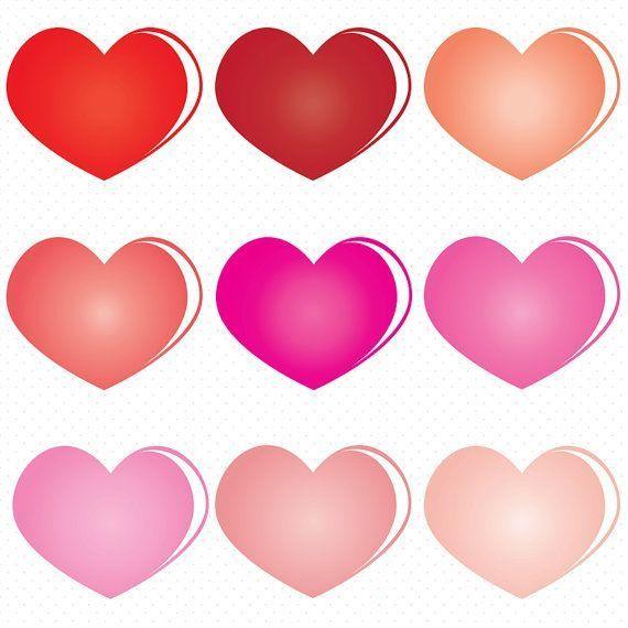 570x570 Heart Shape Clip Art, Colorful Heart Clip Art, Valentines Day