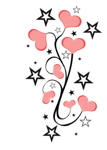 360x504 Heart And Star Tattoo Designs Gallery Images)