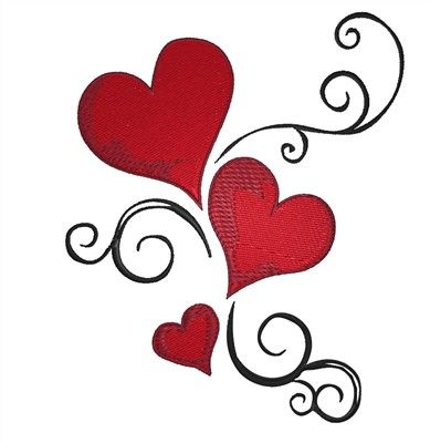 389x400 Heart Swirl Embroidery Design Embroidery Designs, Embroidery