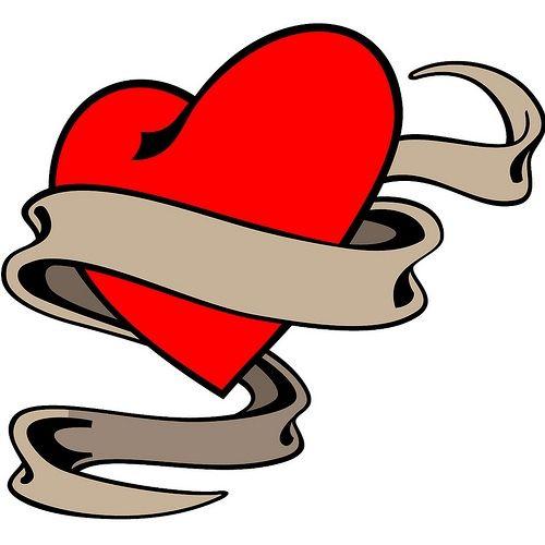 500x500 Heart With Ribbon Tattoo Designs Tattoo Design Ideas Valentine