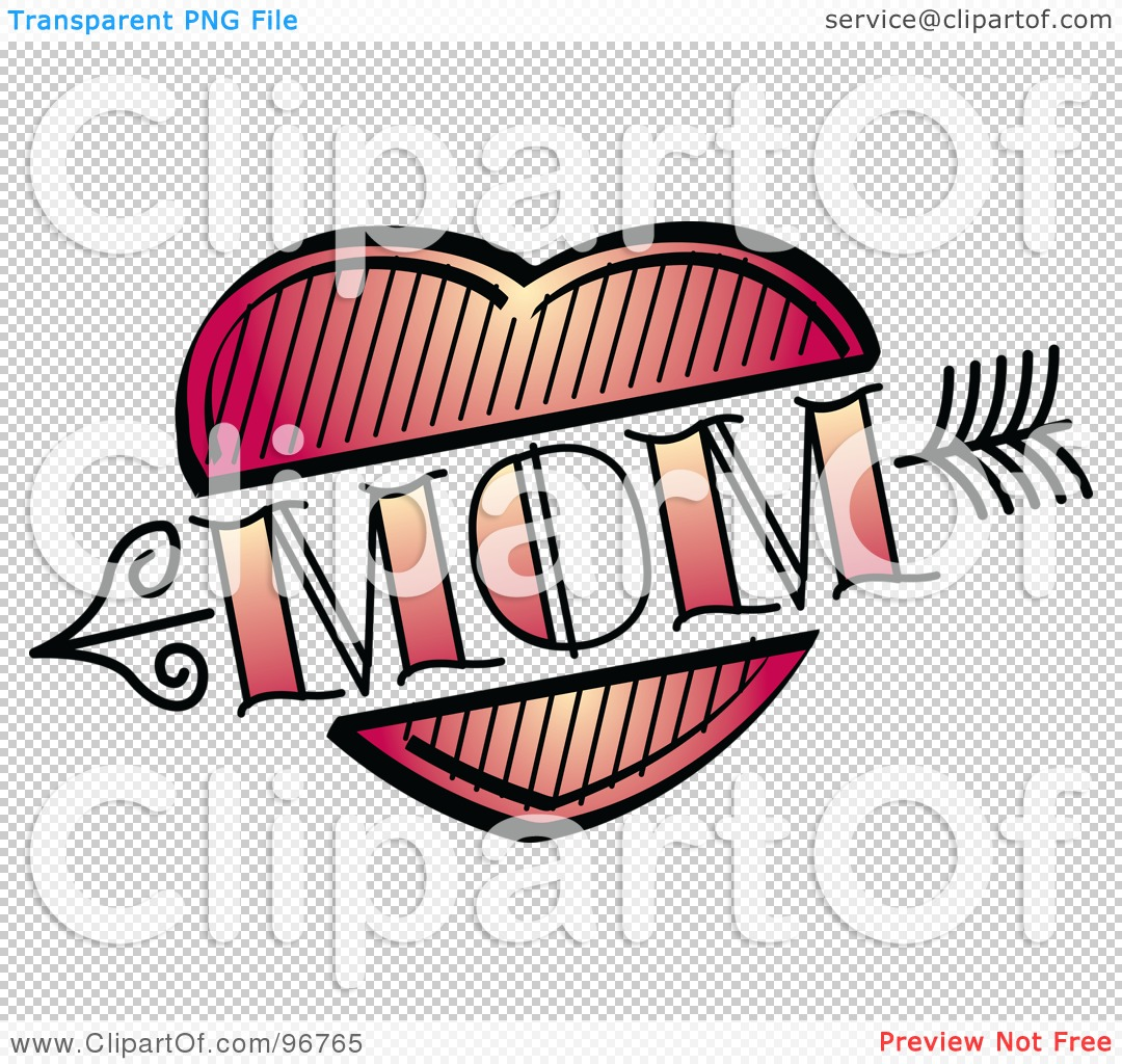 1080x1024 Royalty Free (Rf) Clipart Illustration Of A Red Heart And Arrow