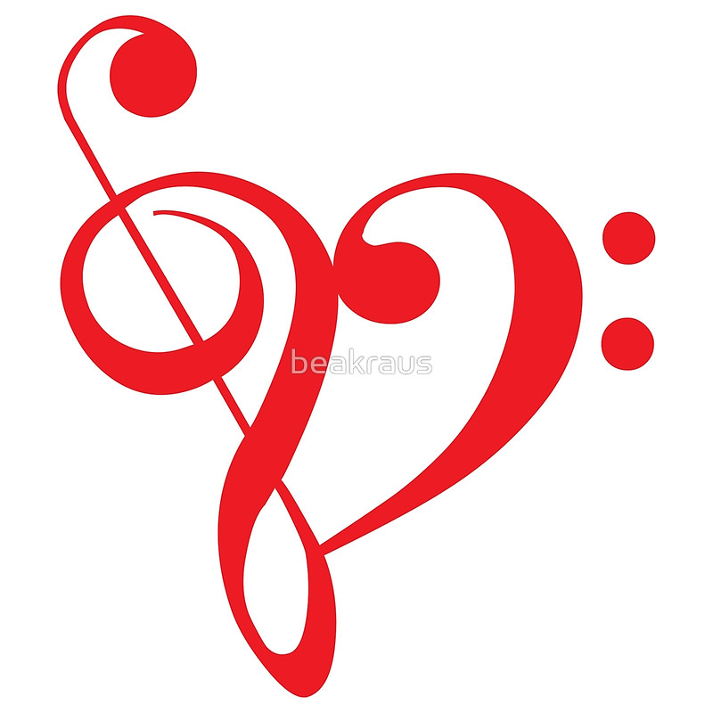 800x800 Stylist Inspiration Heart Music Note I Love Red With Notes Art