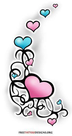 236x442 Swirl Heart Tattoo