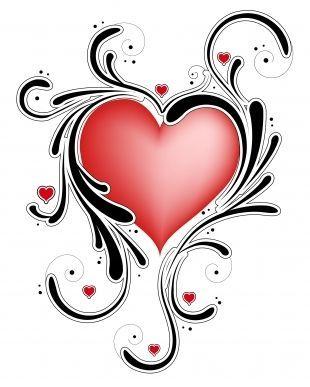 310x387 Swirl Heart Tattoo
