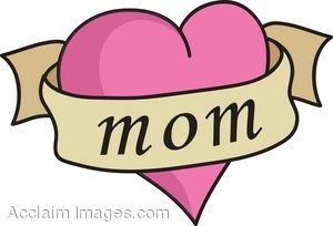 300x204 Clip Art Of A Heart Tattoo With Mom