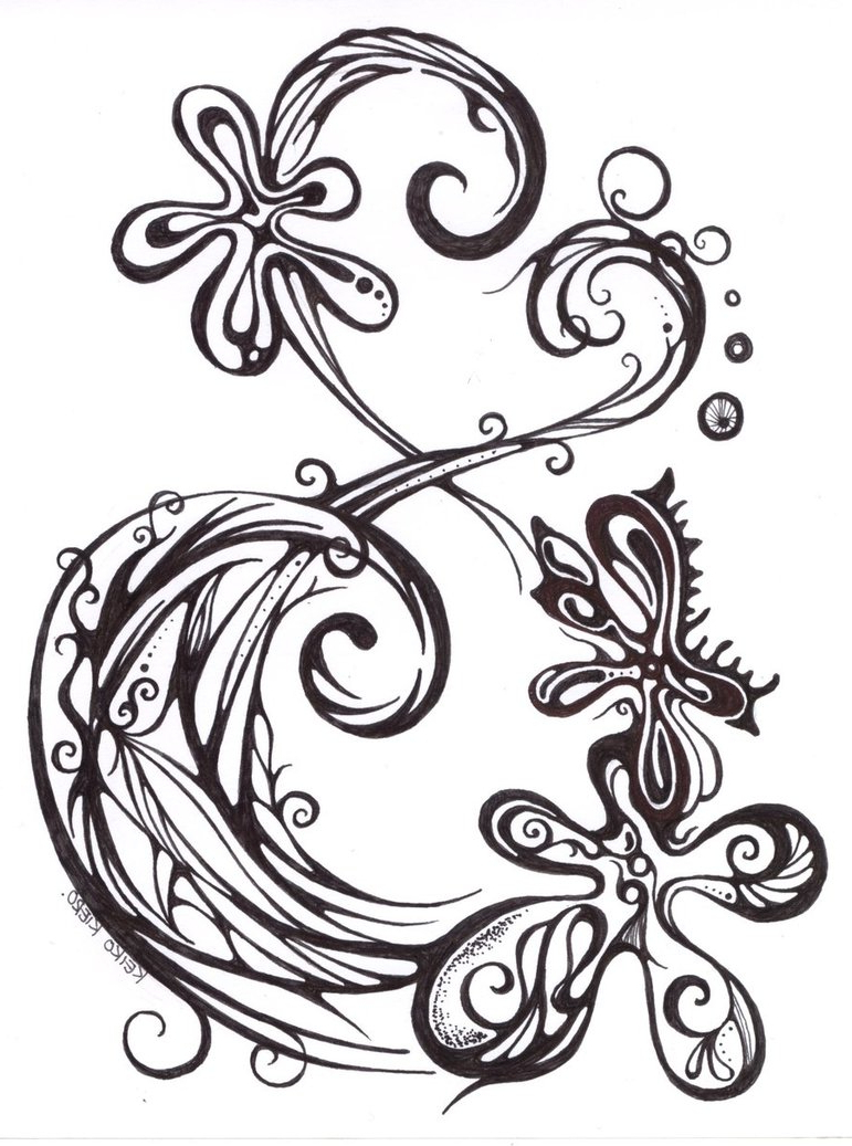 771x1037 Flower And Heart Tattoo Designs Flower And Heart Tattoo Designs