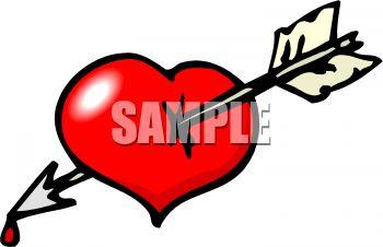 350x226 Dripping Arrow Through A Heart