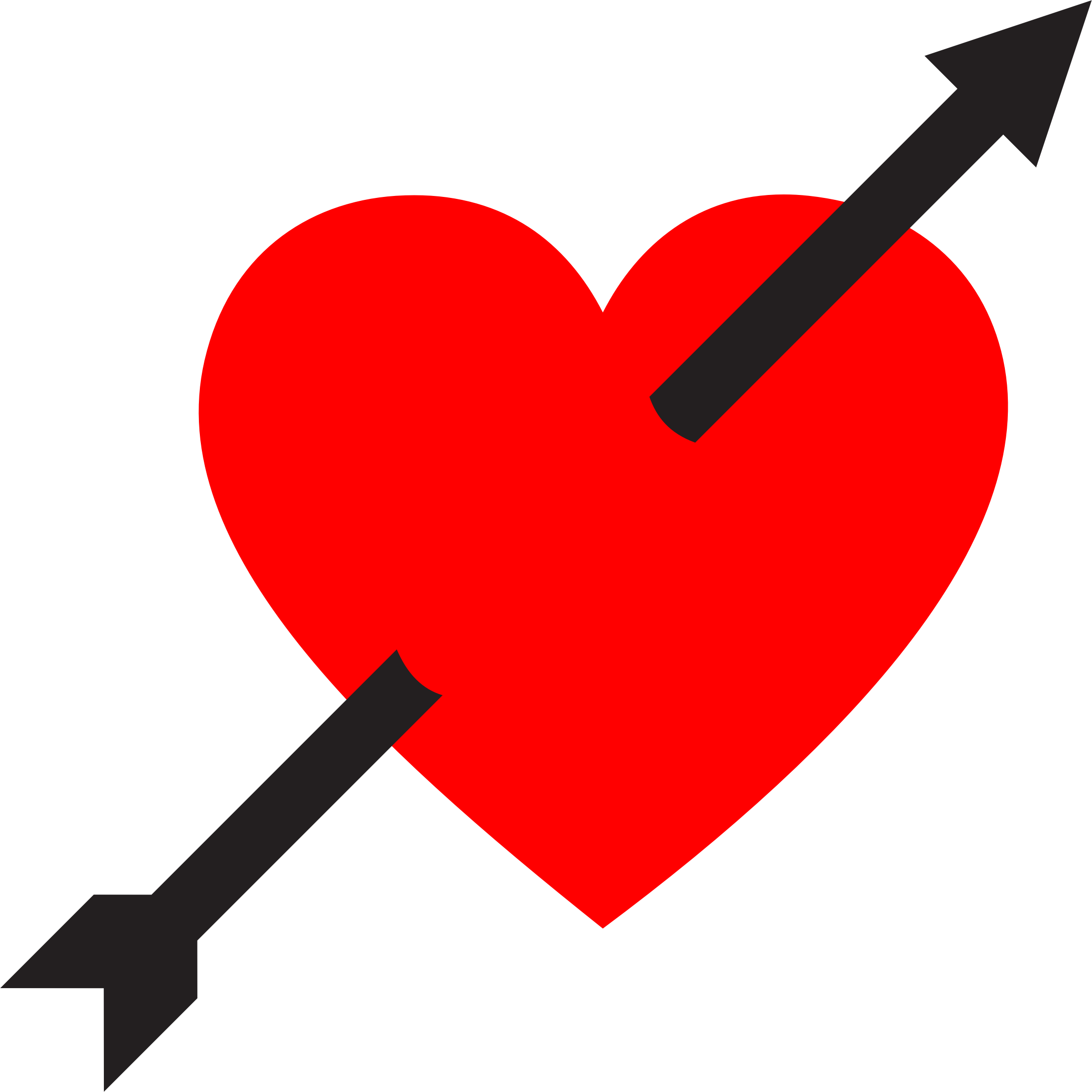 2218x2218 Heart Pierced By Arrow Icons Png