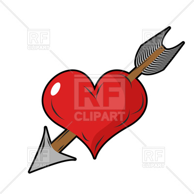 400x400 Heart And Arrow, Symbol Of Love Royalty Free Vector Clip Art Image