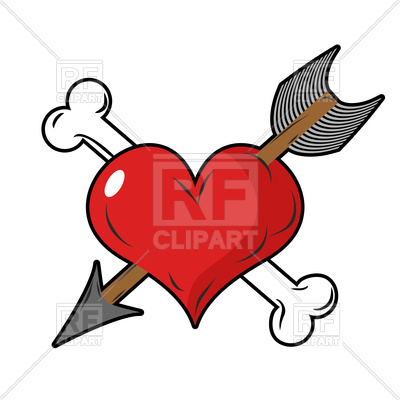 Heart With Arrow Clipart At Getdrawings Free For Personal Use