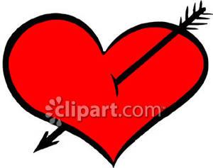 300x237 Hearts Clipart Arrowed