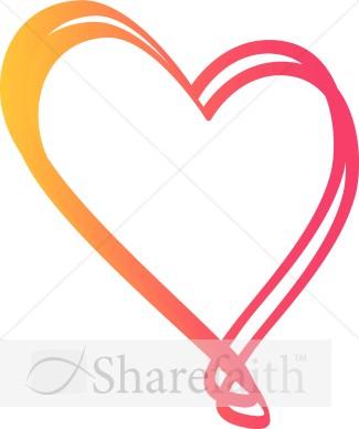 325x388 Pinkish Fun Heart Valentines Day Clipart