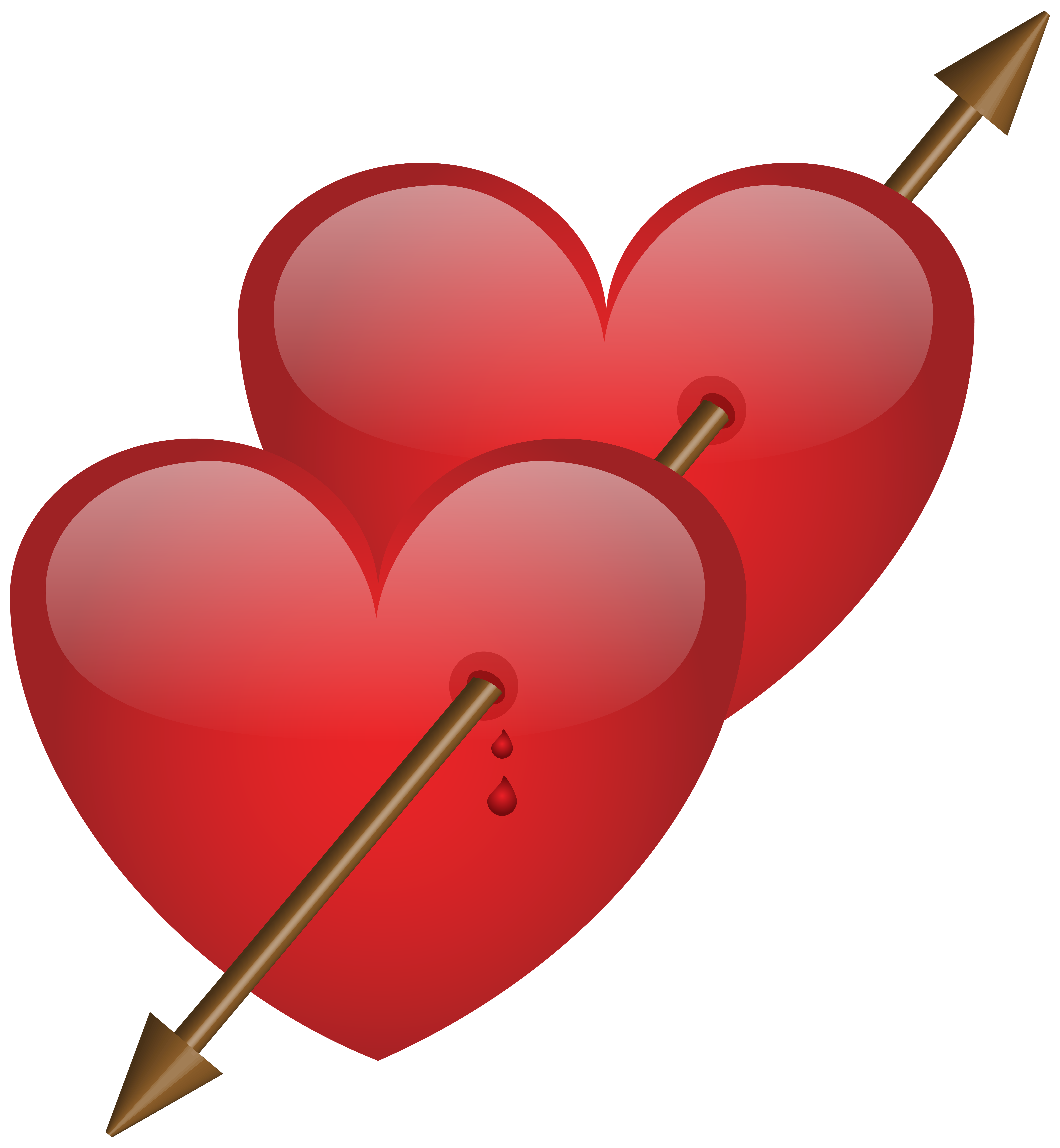 7386x8000 Two Hearts With Arrow Png Clip Art Imageu200b Gallery Yopriceville