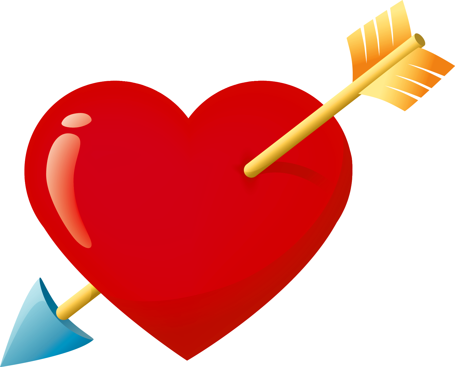 1779x1433 Valentine Red Heart With Arrow Png Clipart Hearts