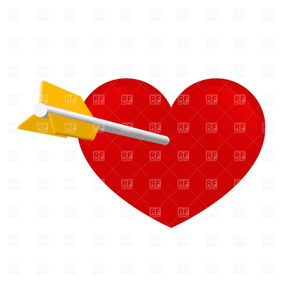 1200x1200 Arrow And Heart Royalty Free Vector Clip Art Image