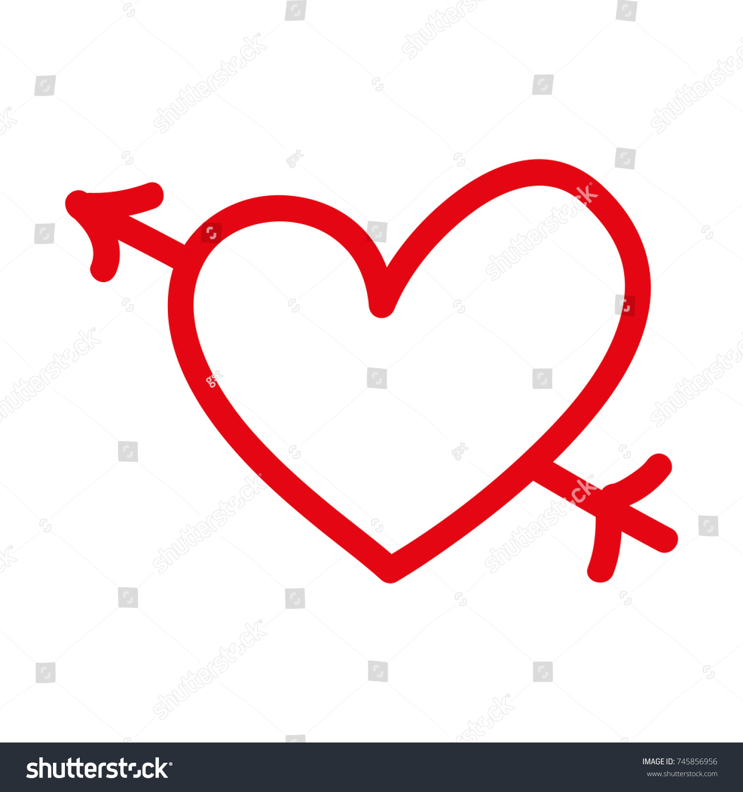 1500x1600 Valentine Symbols Clip Art Stock Vector Romantic Heart Love Arrow