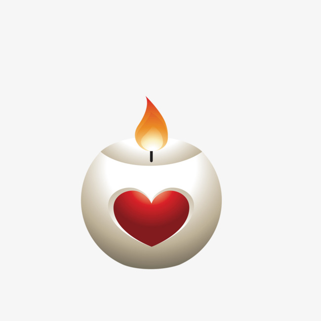 650x651 Heart Shaped Candle, Candle, Flame, Vector Png Image And Clipart