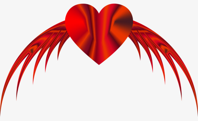 650x400 Heart With Wings, Wing, Love, Red Png Image And Clipart For Free