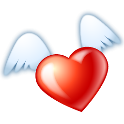 256x256 Heart With Wings Clipart Free Download Clip Art