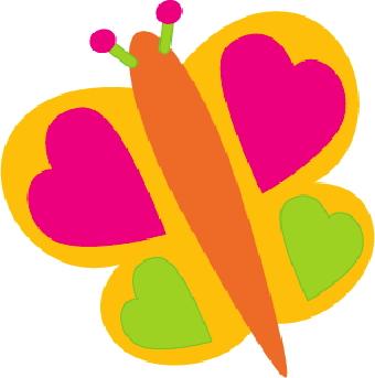 340x343 Heart Clipart Butterfly
