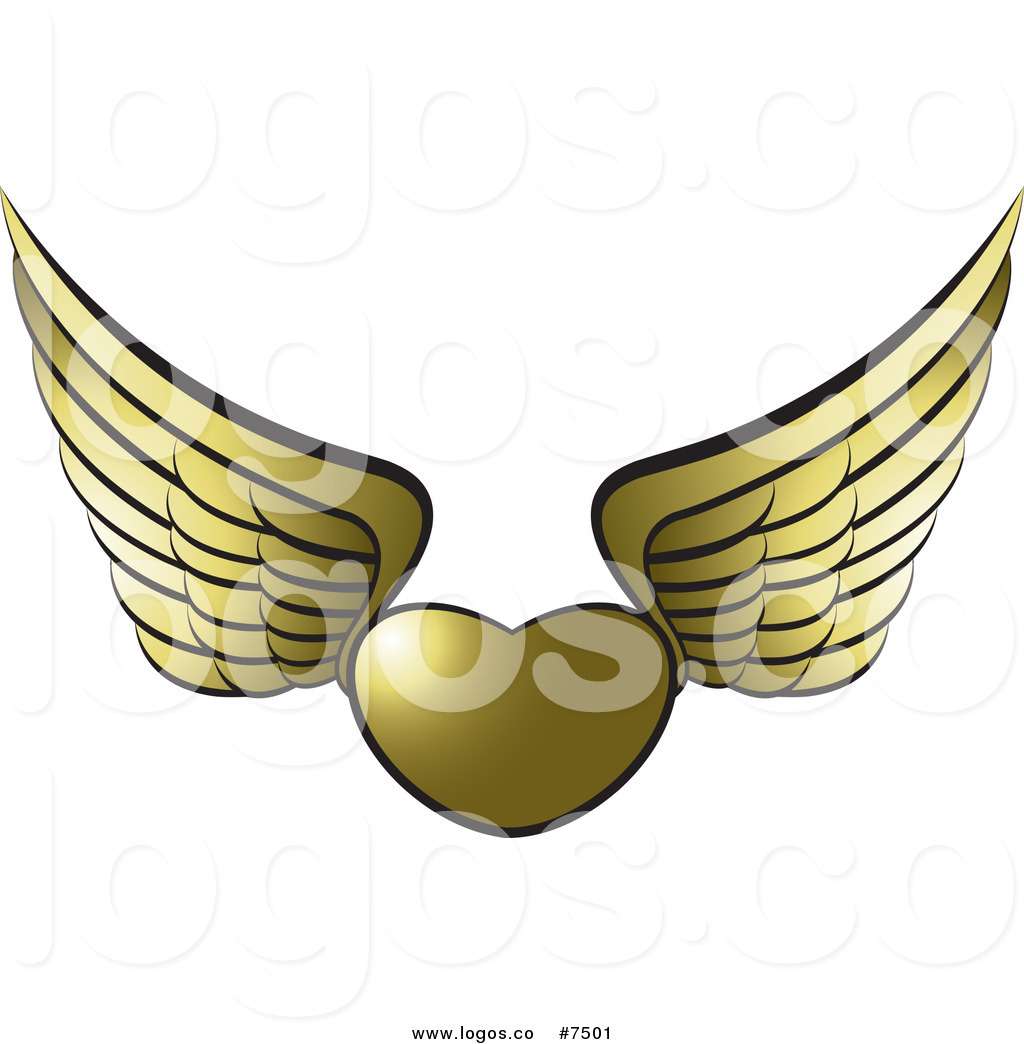 1024x1044 Royalty Free Clip Art Vector Logo Of A Gold Winged Heart By Lal
