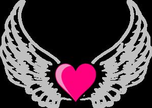 299x213 Wings N Pink Heart Clip Art