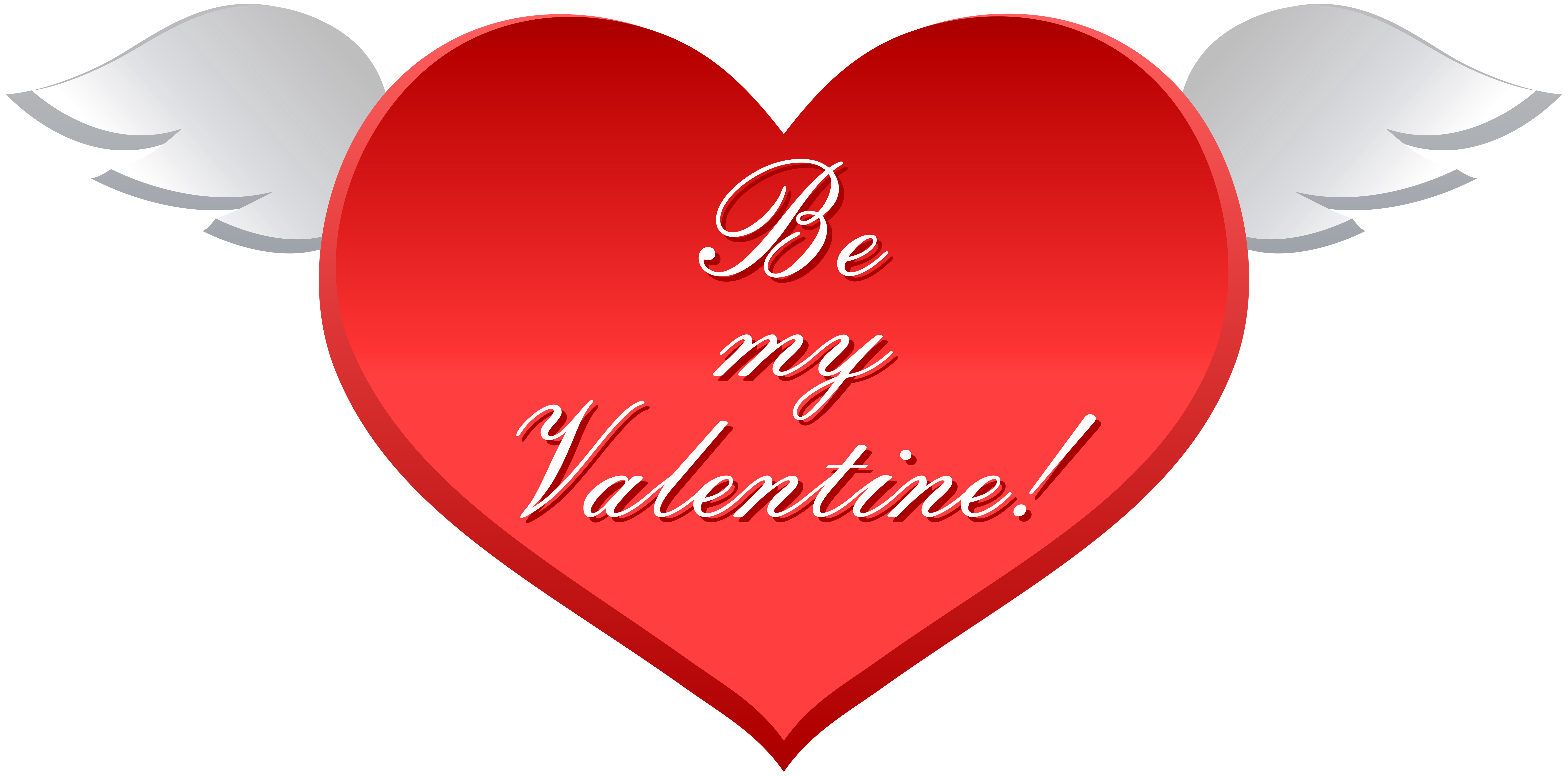 8000x3958 Be My Valentine Heart With Wings Clip Art Imageu200b Gallery
