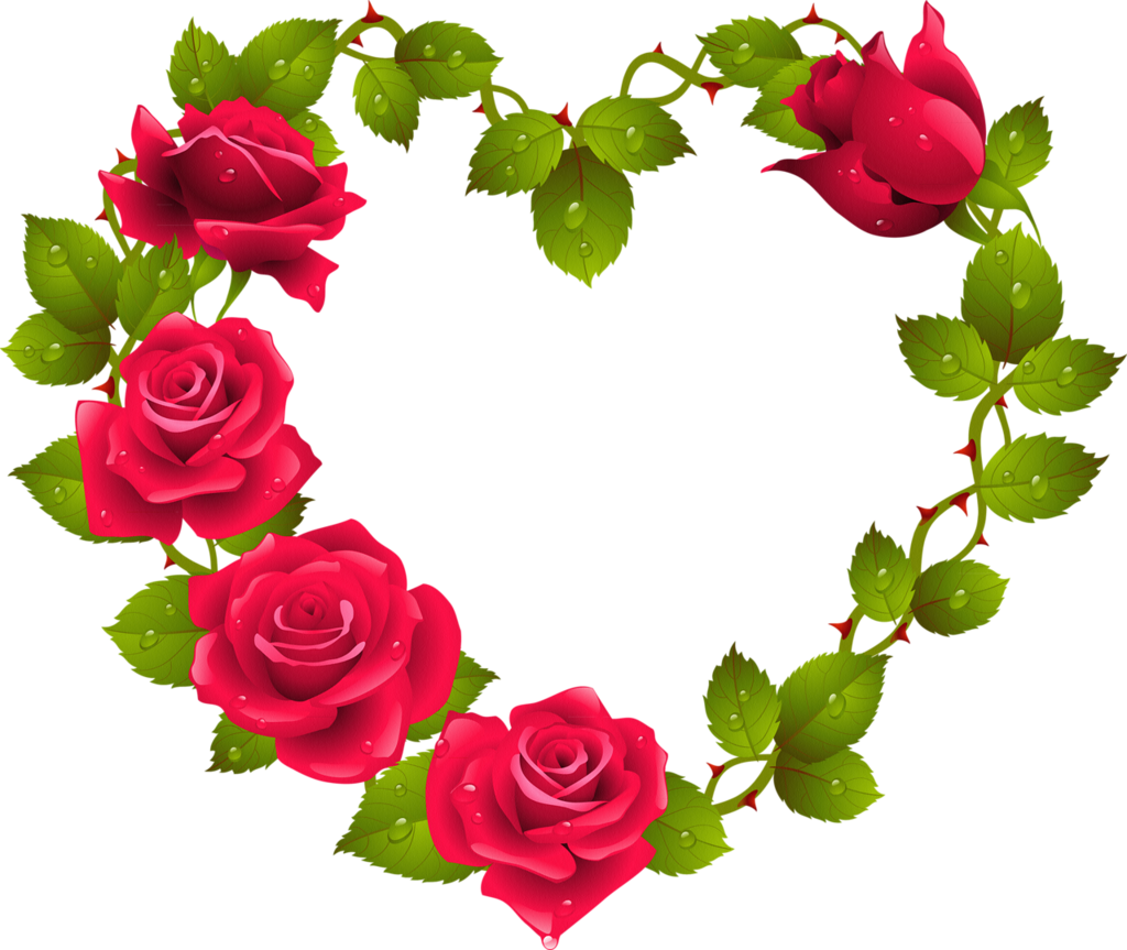 Hearts And Roses Clipart