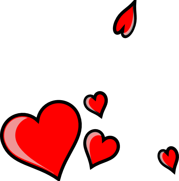 594x600 Three Hearts Clip Art