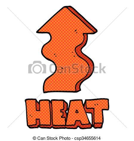 449x470 Freehand Drawn Cartoon Heat Rising Vector Clip Art