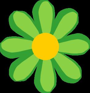 291x300 Green Flower Clip Art