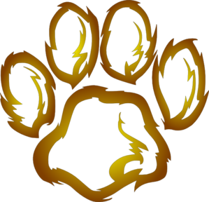 299x288 Lions Paw Print Clip Art