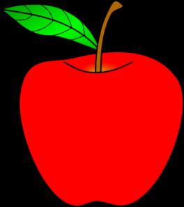 264x297 Red Apple Clip Art