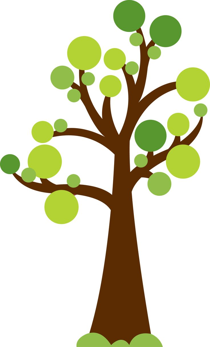 736x1218 Tree With Circles For Leaves. Cute Image For Summer Or Garden
