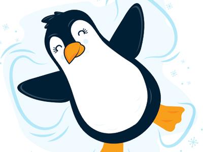 400x300 Clipart Penguin In Heaven Angel Clip Art