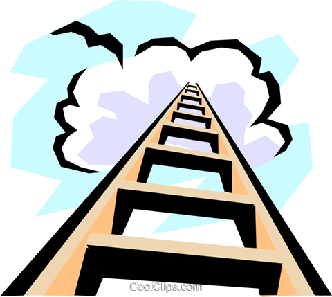 480x429 Stairway To Heaven Royalty Free Vector Clip Art Illustration