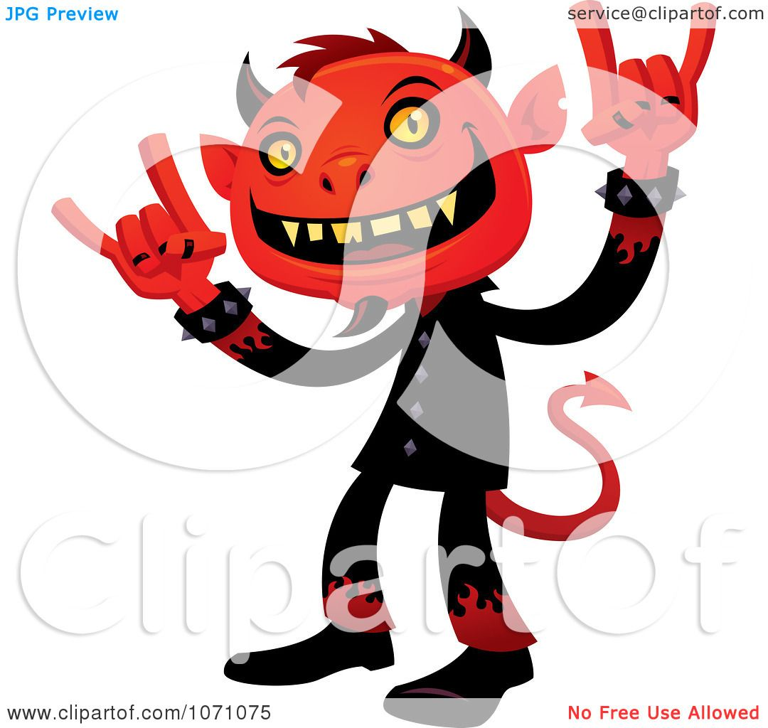 1080x1024 Clipart Heavy Metal Devil Rocking Out And Gesturing The Sign